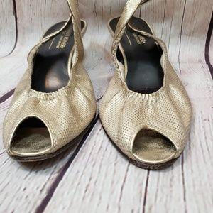 Donald J. Pliner Shoes - Donald J. Pilnar Dolly Slingbacks Gol